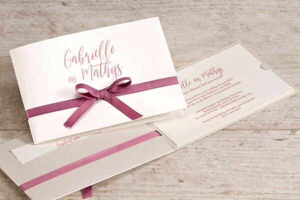 chique-trouwkaart-met-roze-strik-buromac-108118-TA108-118-15-1